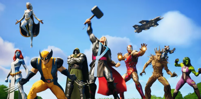Personagens da Marvel na 4ª temporada de Fortnite.