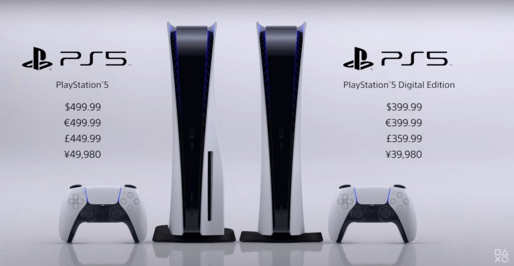 Valores do PlayStation 5